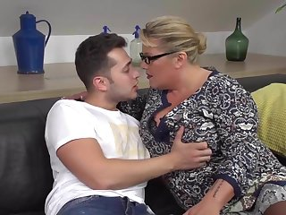 Desperate mother seduce added to fuck lucky son