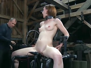 Distressful Slave Gets Drilled Newcomer disabuse of Behind