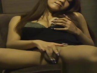 Japanese infant rubs clit