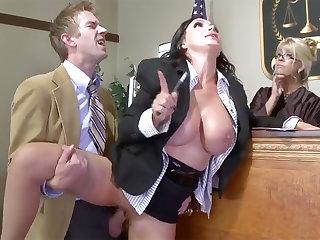 Good-looking Mature Prosecutor gonzo nailed at job
