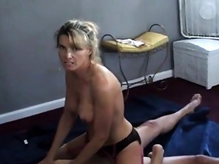 Wife talks dirty while cuckold husband films will not hear of with bull