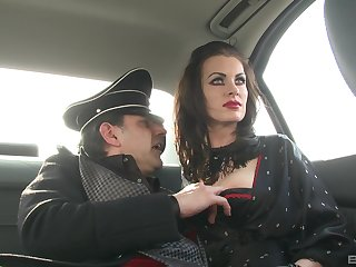 German MILF brunette babes in costumes charge from team a few big hard cock