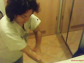 Toilet Spy footage from Mexico. First my wife, next my friend in our toilet.