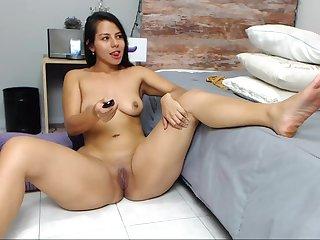 Colombian Girl Spread Will not hear of Chicks Hot Webcam Solo Blear