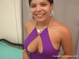 This adorable big knocker amateur cutie joins us again on Homegrown for possibility scene!