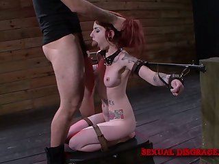 Bad redhead with smeared makeup Sheena In the best of health is fucked doggy hard