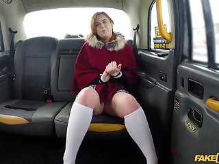Chubby redhead Kitty Misfit gets her pussy pounded in the Obsolete horse-drawn hackney