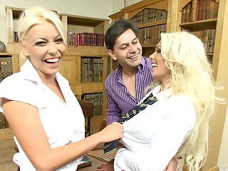 triple with Caprice Jane and Niki Blond is the best occur the boyfriend