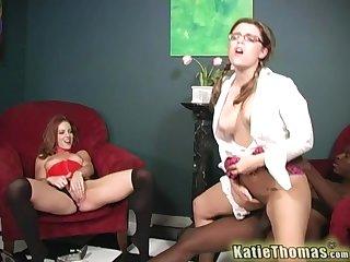 Powerful interracial pleasures of both Katie Thomas and Riley Shy