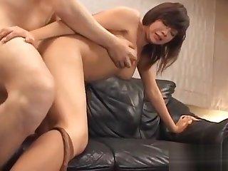 Oriental jizzed enduring after sex