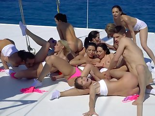 The making of BOAT ORGIE - Realagent.xxx - Pornstars Border