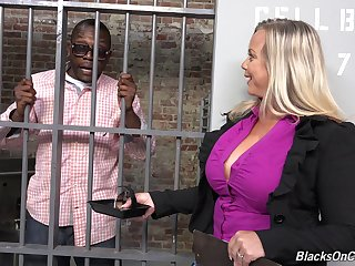 Heavy tits blonde lawyer gets fucked away from her black client reversed
