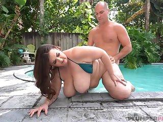 BBW Marilyn Sallow Pool Pleasures - fixed fuck