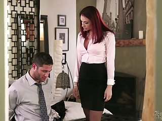 Redhead king Chanel Preston having amazing sex with her employee
