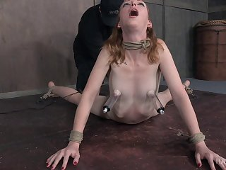 Skinny redhead slut Katy Kiss loves to be plighted and torturous
