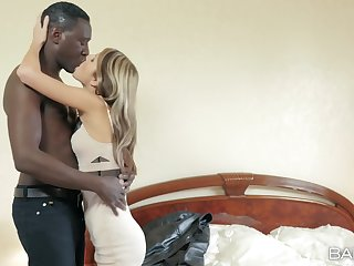 Young Russian evil one Gina Gerson takes on a hung black lover