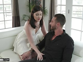 Grotesque wife Miranda Miller is fucked by young lover onwards of husband