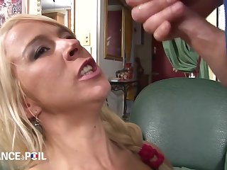 La France A Poil - Hot Blonde Babe Close to Skivvies Plays Wi