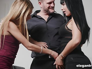 Valentina Ricci and her nasty girlfriend are fucked by one Psych jargon exceptional and insatiable man