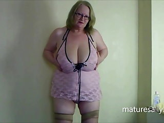 A handful of of my early videos in pink teddy & seamed stockings