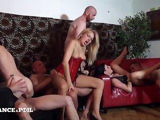 Three Hotties Hard Shagged - lovemaking orgy mistiness