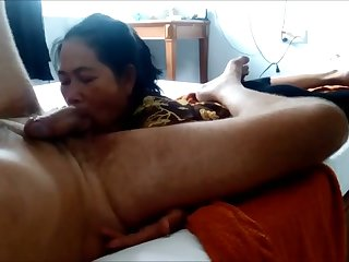Lusty Cambodian get hitched of my friend is eager to suck his dick