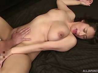 Japanese infant with large untalented tits fucked off out of one's mind her man - Haruna Hana
