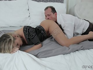 Wonderful scenes the old guy deep fucks his personify daughter
