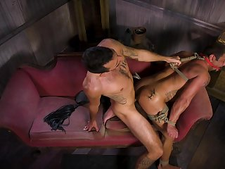 Hottest gay BDSM prizefight with Draven Navarro and Brian Adams