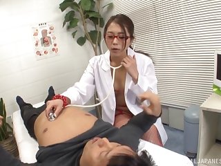 Hardcore fucking on the hospital bed with doctor Hikari Nishino
