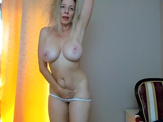 Sexually Attractive Full-Breasted Mommy Plays With Largesse Sensitive Vibrator