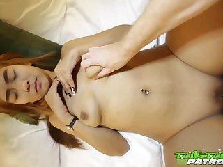Shy Thai Complain with Colored Hair Enjoys Sex