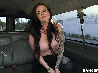 Quickie making out in back of the fore with busty engrave Roxii Blair